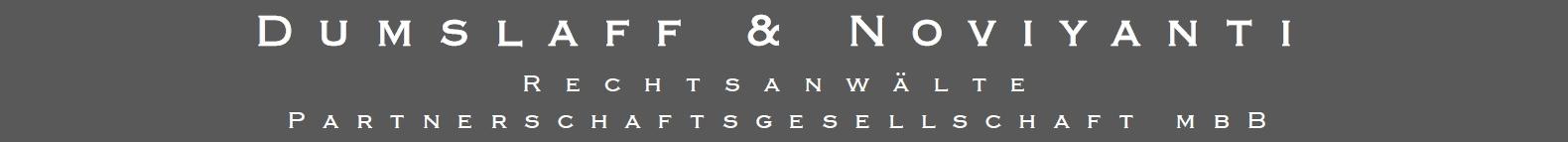 DUMSLAFF & NOVIYANTI RECHTSANWÄLTE Logo